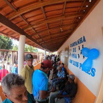 Campanha de Prevenção do Câncer de Próstata no Distrito de Luís Pires de Minas.